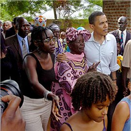 Obama in Kenya with his Grandmother